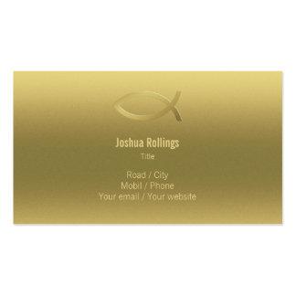 Cristiano - tarjeta de visita elegante del oro