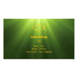 Cristiano - tarjeta de visita verde