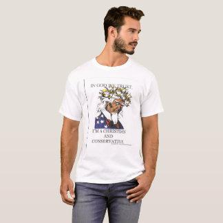Cristiano y conservador camiseta