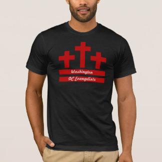Cristianos en DC - tres cruces y la bandera de DC Camiseta
