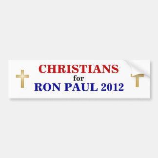 CRISTIANOS para el pegatina 2012 de PAUL Pegatina De Parachoque