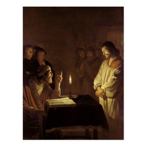 Cristo ante el alto sacerdote, 1617 postales