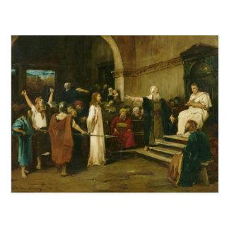 Cristo antes de Pilate, 1880 Postal