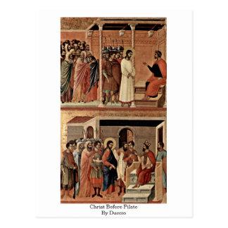 Cristo antes de Pilate por Duccio Postal
