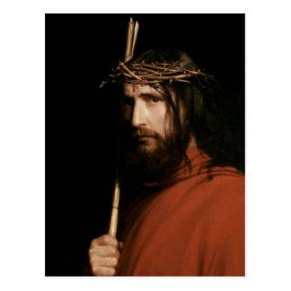 Cristo con las espinas. Postales de la bella arte