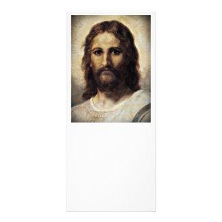Cristo con los ojos compasivos tarjeta publicitaria a todo color