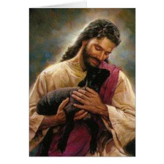 Cristo el buen pastor tarjeta