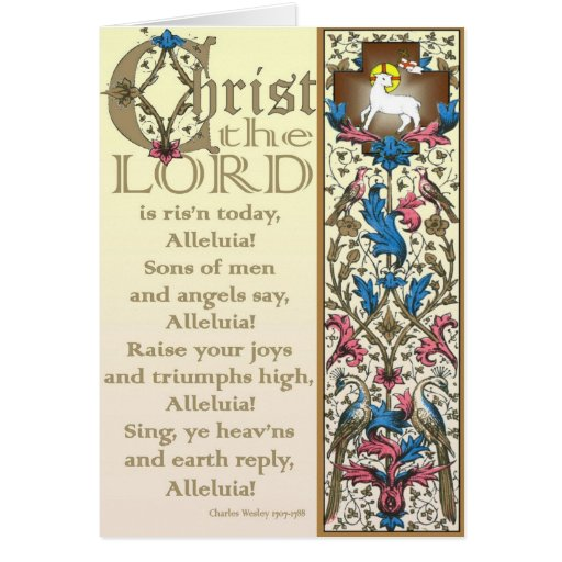 Cristo el señor es hoy subida tarjeta de pascua