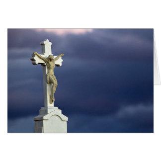 Cristo en cruz tarjeta de felicitación