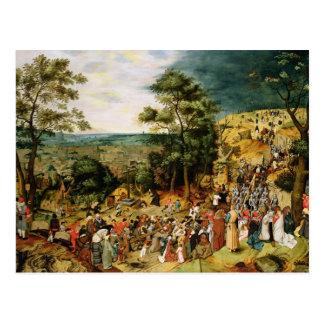 Cristo en el camino al Calvary, 1607 Postal