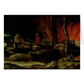 Cristo en el limbo 2 tarjeta de felicitación
