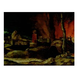 Cristo en el limbo 2 postal