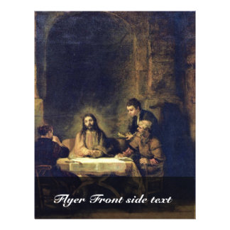 Cristo en Emmaus de Rembrandt Harmensz. Van Rijn Folleto 21,6 X 28 Cm
