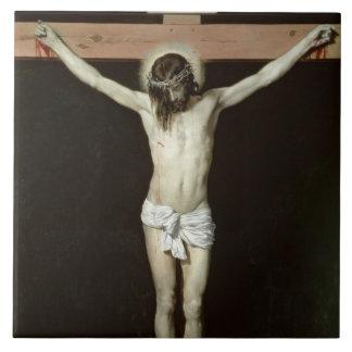 Cristo en la cruz, c.1630 azulejo cuadrado grande