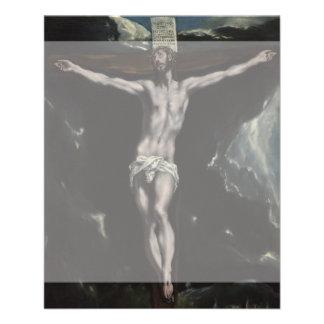 Cristo en la cruz de El Greco Folleto 11,4 X 14,2 Cm