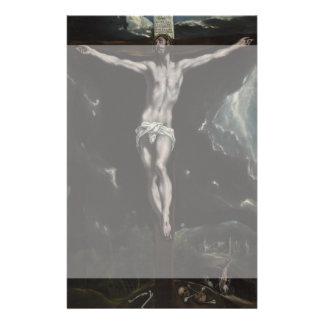 Cristo en la cruz de El Greco Folleto 14 X 21,6 Cm