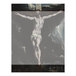 Cristo en la cruz de El Greco Folleto 21,6 X 28 Cm
