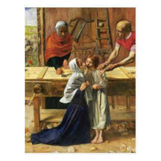 Cristo en la tienda del carpintero de su padre postal