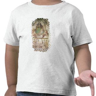 Cristo en majestad con cuatro símbolos evangélicos camiseta
