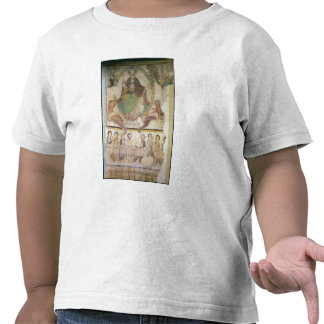 Cristo en majestad con cuatro símbolos evangélicos camisetas