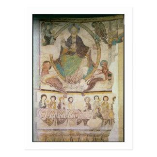 Cristo en majestad con cuatro símbolos evangélicos postal