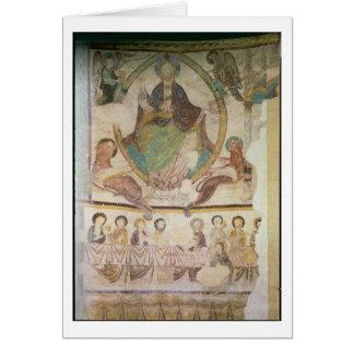 Cristo en majestad con cuatro símbolos evangélicos tarjeta de felicitación