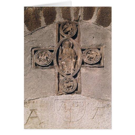 Cristo en majestad con símbolos del felicitación