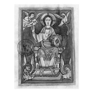 Cristo en majestad, de un Benedictional Postal
