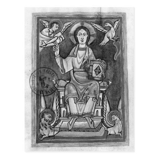 Cristo en majestad, de un Benedictional Postales