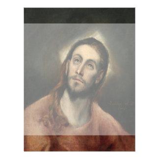 Cristo en rezo de El Greco Tarjetones