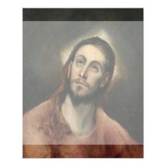 Cristo en rezo de El Greco Folleto 11,4 X 14,2 Cm