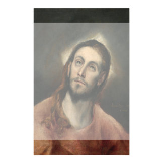 Cristo en rezo de El Greco Folleto 14 X 21,6 Cm