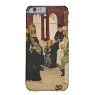 Cristo entre los doctores (aceite en el panel) funda de iPhone 6 barely there