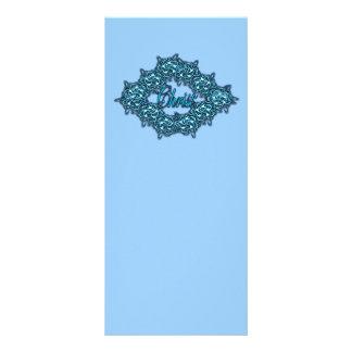 Cristo es el centro - azul claro plantilla de lona