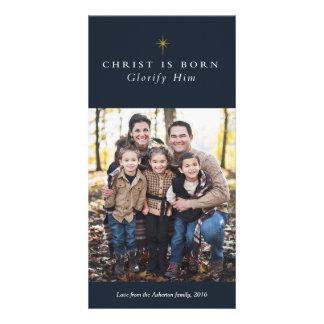 Cristo es tarjeta religiosa nacida de la foto del