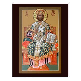 Cristo la tarjeta del rezo del alto sacerdote postal