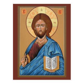Cristo la tarjeta ligera del rezo del donante