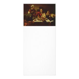 Cristo que cena en Emmaus Folleto Publicitario 10 X 22,8 Cm