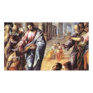 """""""Cristo que cura el Blind Tarjetas De Visita"""