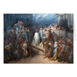Cristo que deja el Praetorium Tarjeta