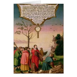 Cristo que enseña a sus discípulos tarjeta de felicitación