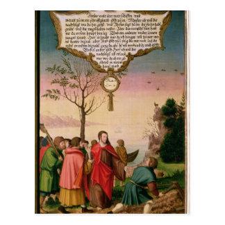 Cristo que enseña a sus discípulos postal