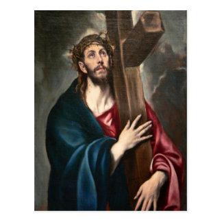 Cristo que lleva la cruz postal