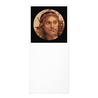 Cristo resucitado en corona de oro folleto publicitario 10 x 22,8 cm