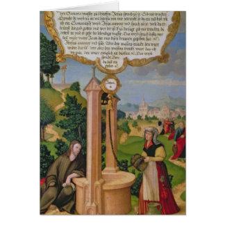 Cristo y la mujer de Samaria en el pozo de Jacob Felicitacion