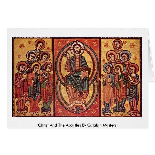 Cristo y los apóstoles por los amos catalanes felicitación