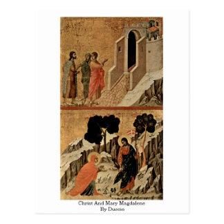 Cristo y Maria Magdalena por Duccio Postal