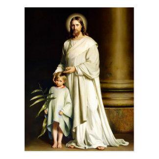 Cristo y niño. Postales de Pascua de la bella arte