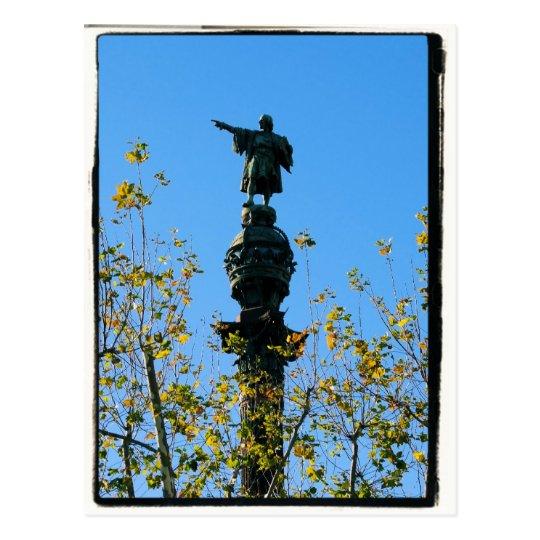 Cristóbal Colón - postal de Barcelona, España