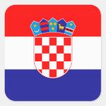 Croacia - bandera nacional croata pegatina cuadrada
